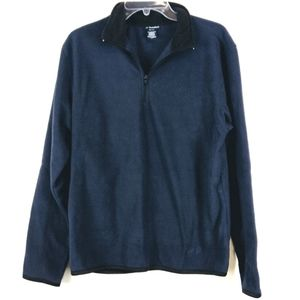 NordicTrack Fleece Pullover Navy and Black Small